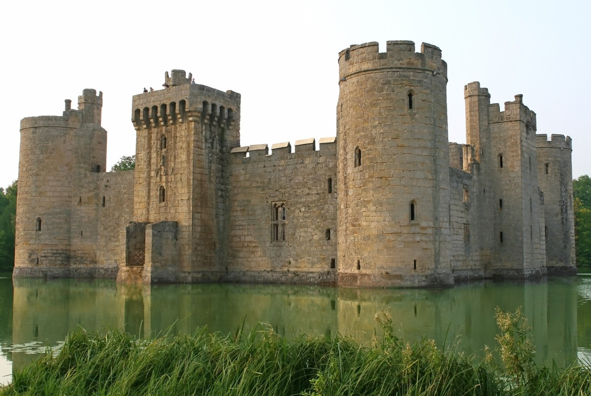 Bodium Castle, Sussex was built as a fortress. It would have been cold and damp in winter.