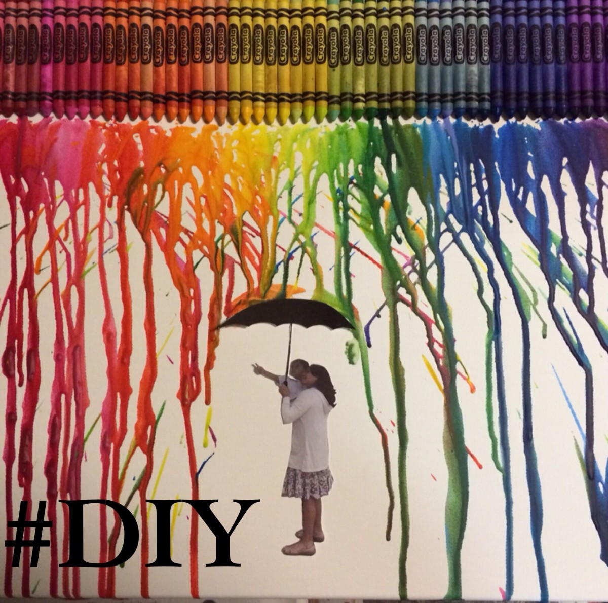 How to Make Your Own Personalized Melted Crayon Art
