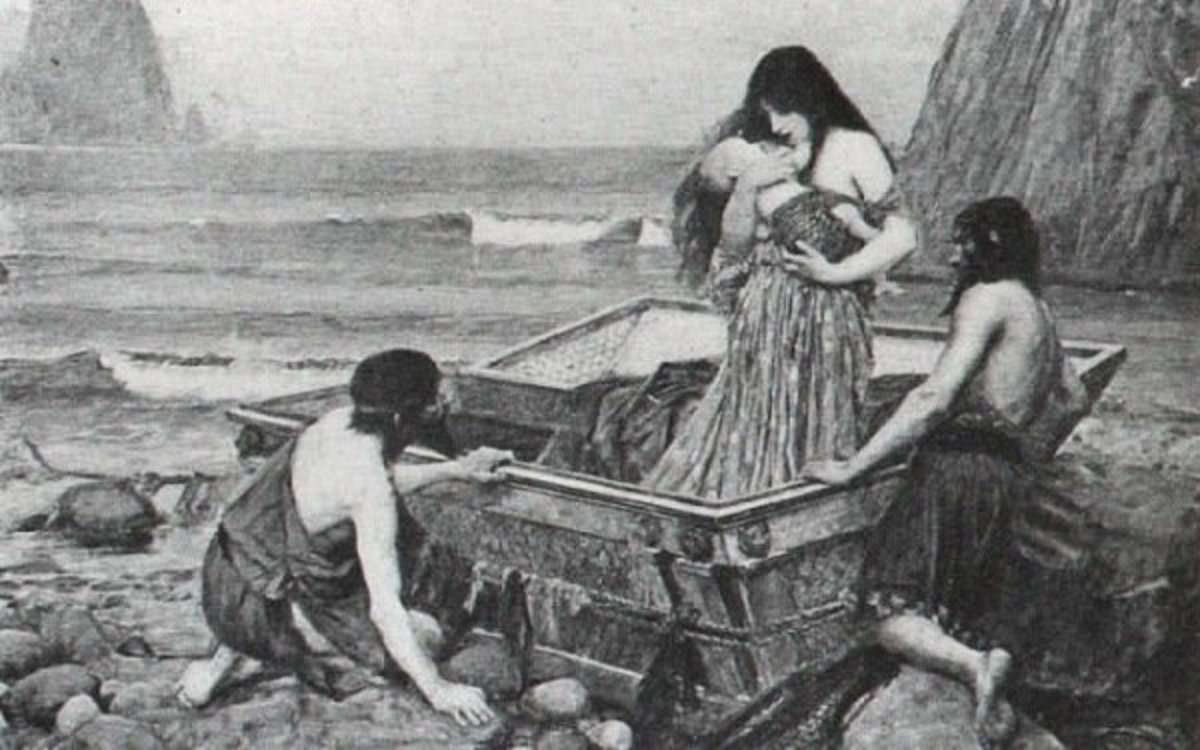 John William Waterhouse (1849-1917). Danaë (1892)