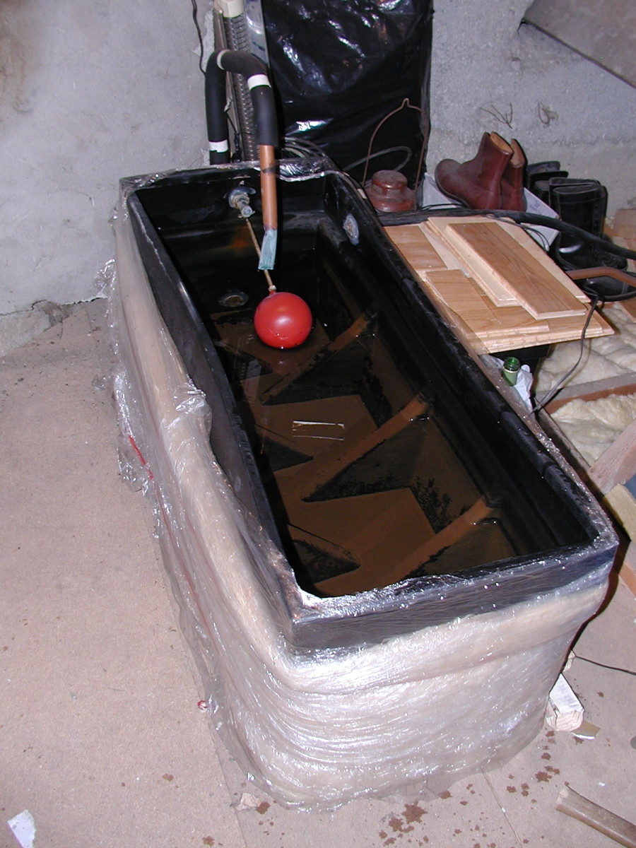 Cold water tank in the loft