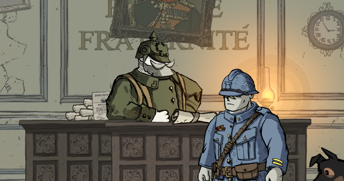 """""""Valiant Hearts"""" is owned by Ubisoft. Images used for educational purposes only."""