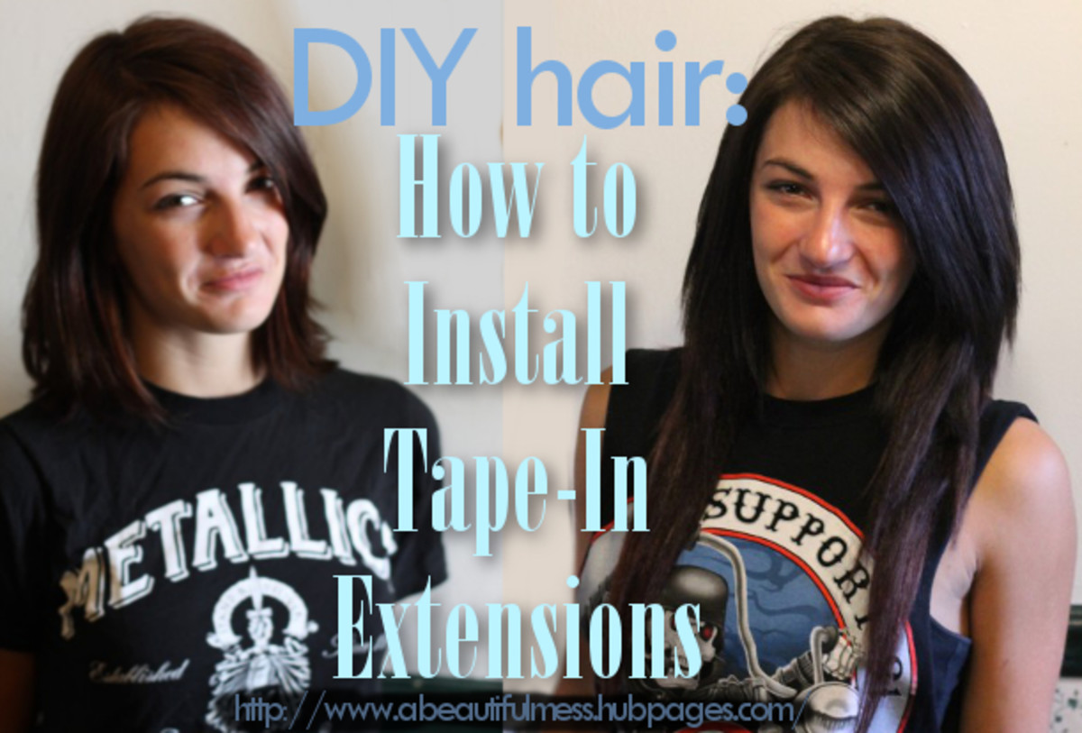 Diy Hair How To Install Tape In Hair Extensions Bellatory