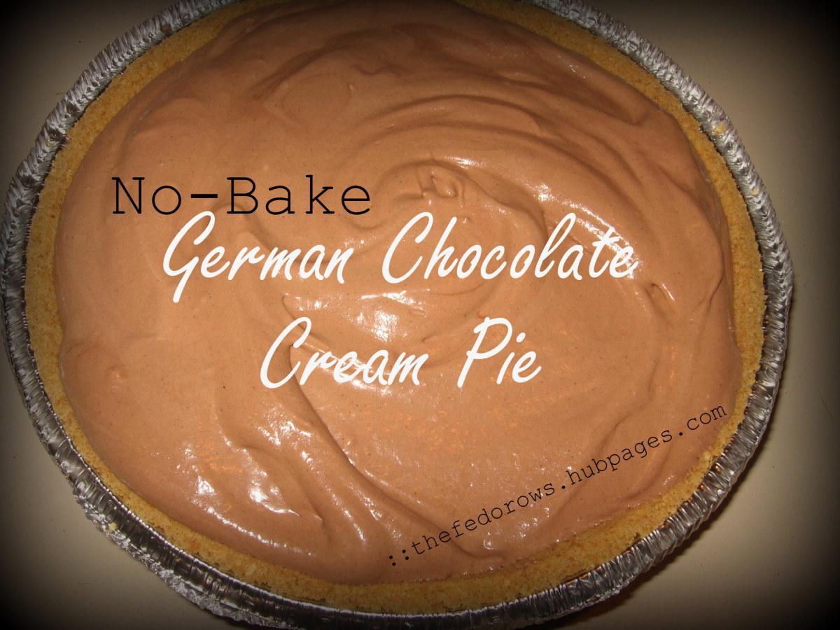 15 Minute No-Bake German Chocolate Cream Pie