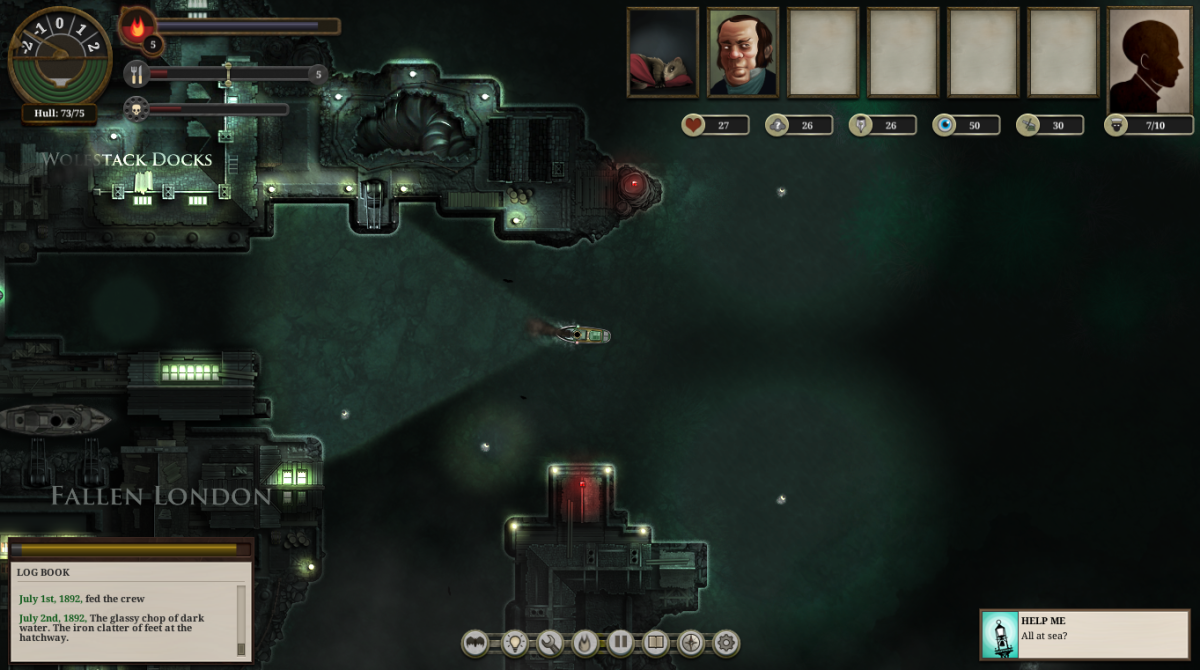 """Sunless Sea"" is owned by Failbetter Games. Images used for educational purposes only."