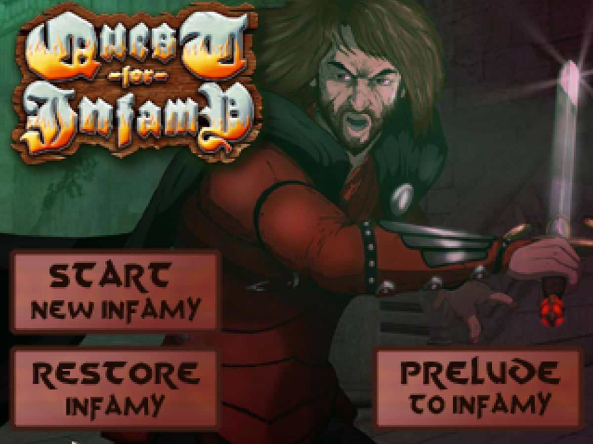 Quest for Infamy owned by Infamous Games. Images used for educational purposes only.