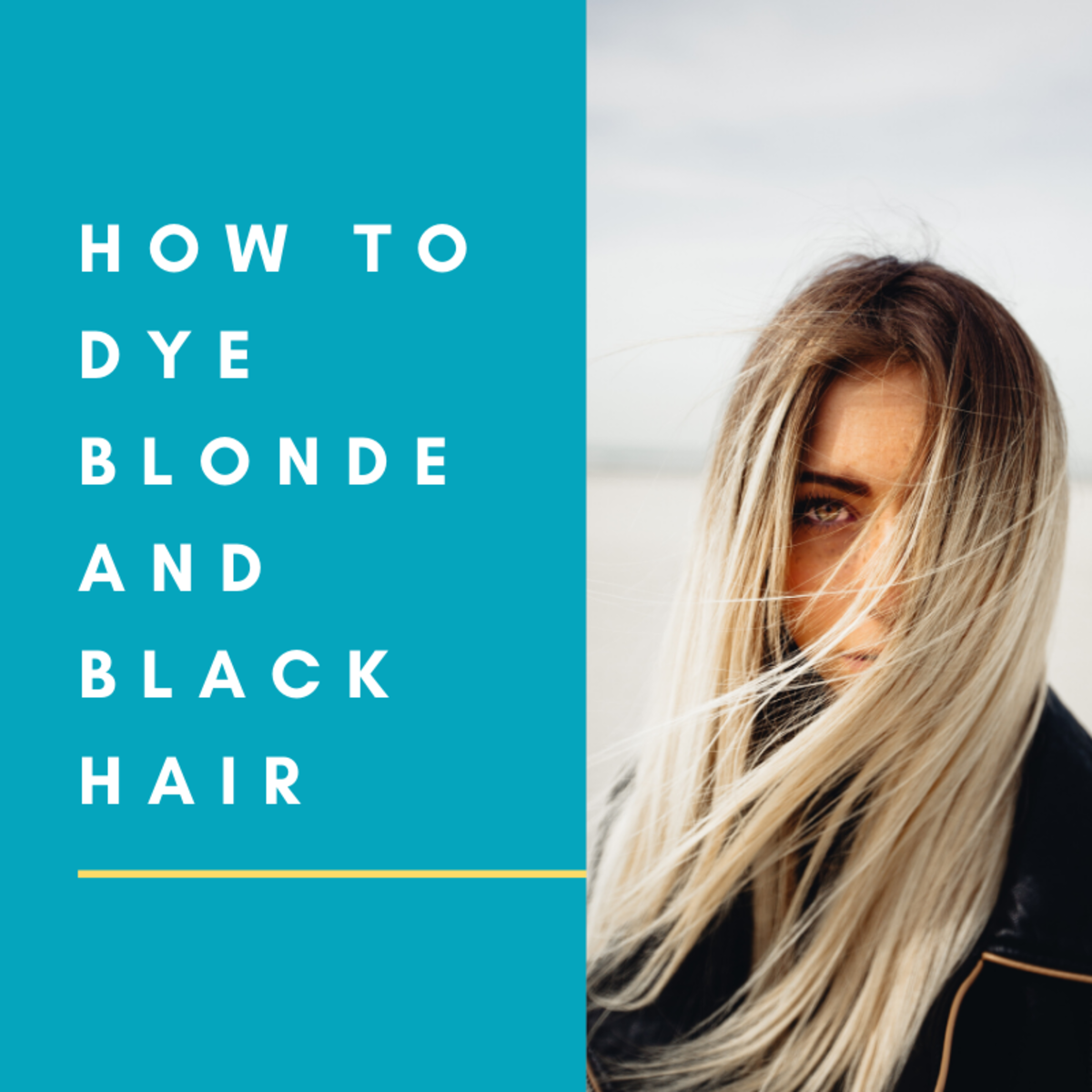 How to Dye Blonde and Black Hair