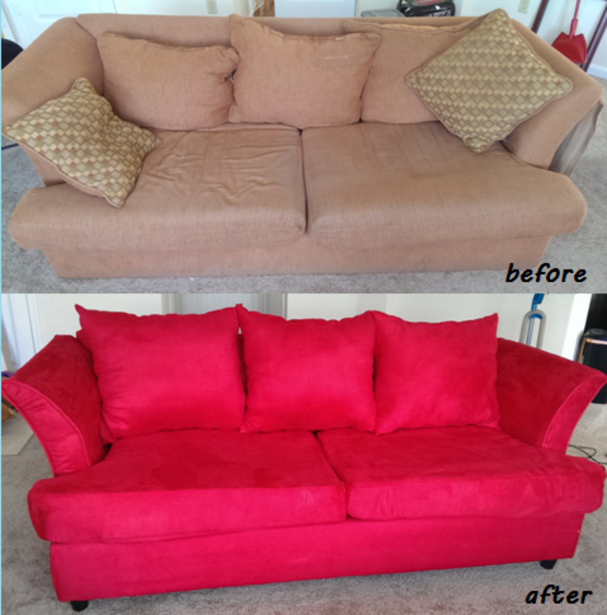 And here's the before and after comparison!