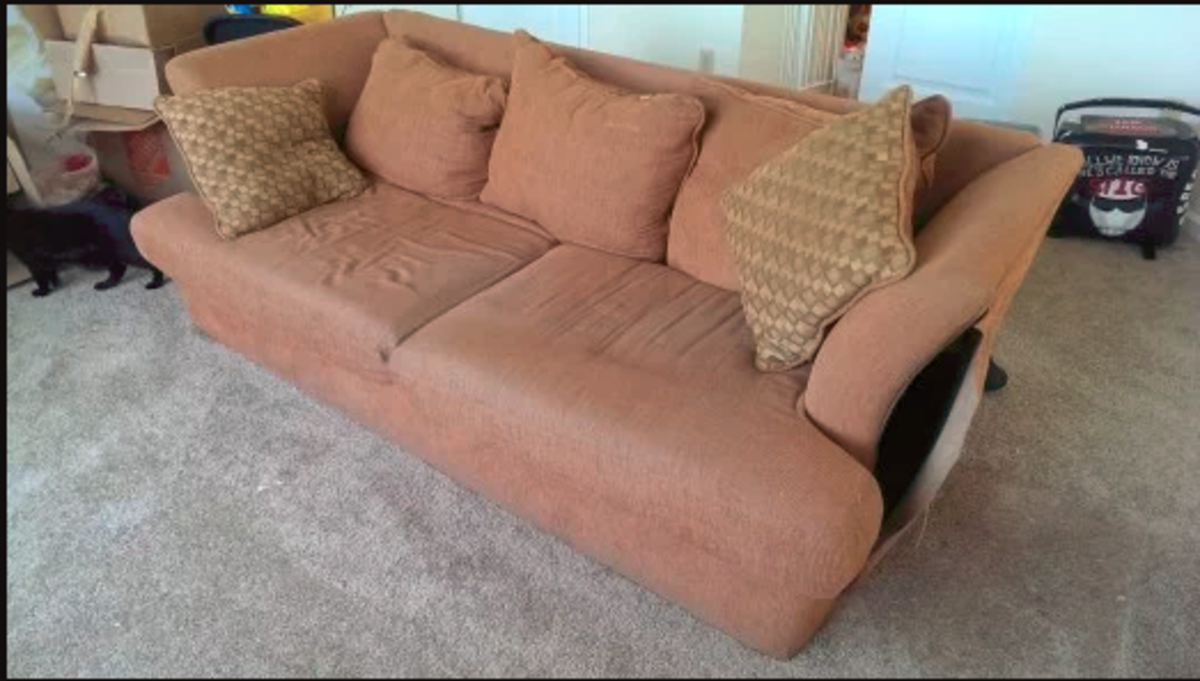 """The Old Sofa: The """"Before"""" Shot"""
