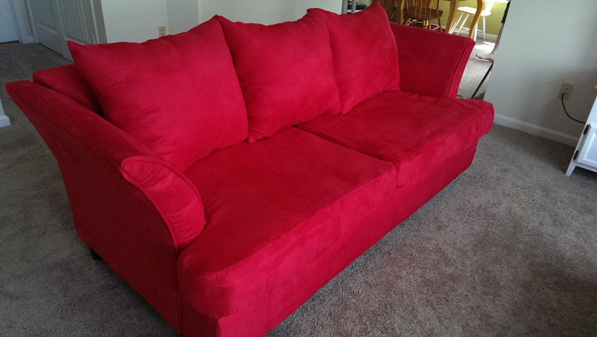 and the couch finished from the side...