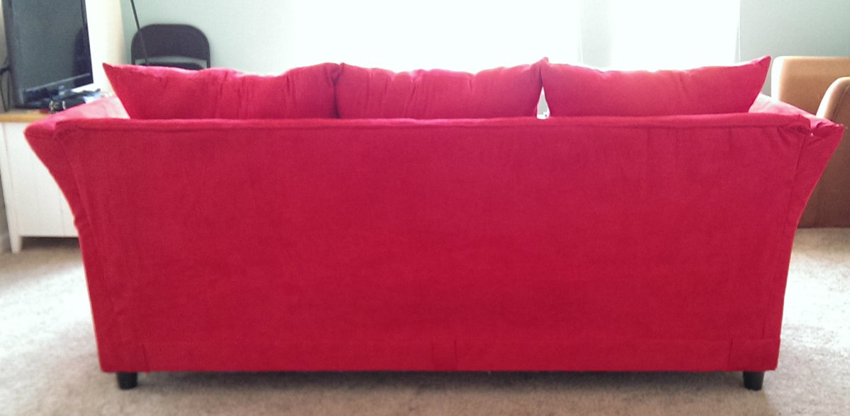 Here's the back of the couch, finished.