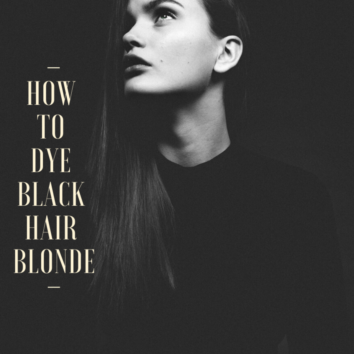 How to Dye Black Hair Blonde