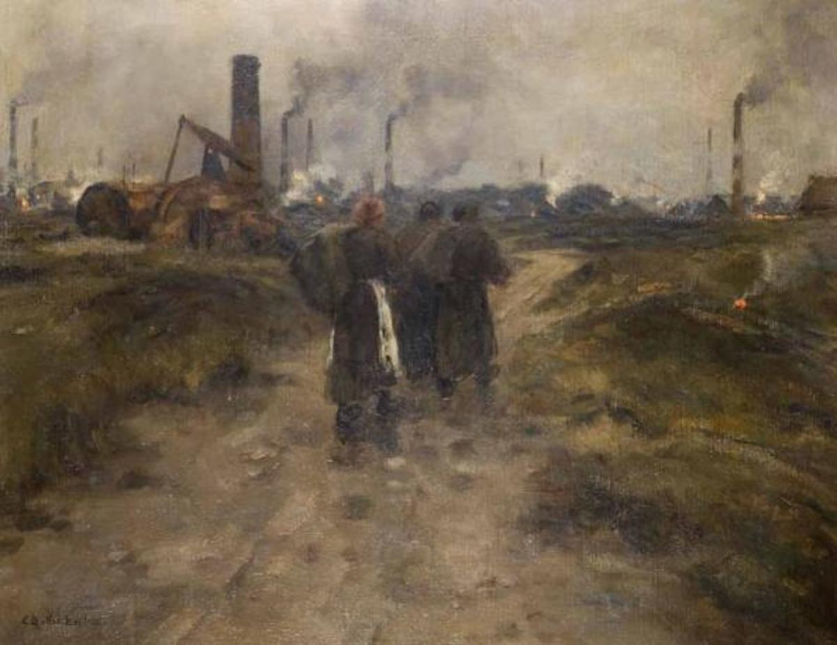 """Evening in the Black Country"" by Edwin Butler Bayliss"