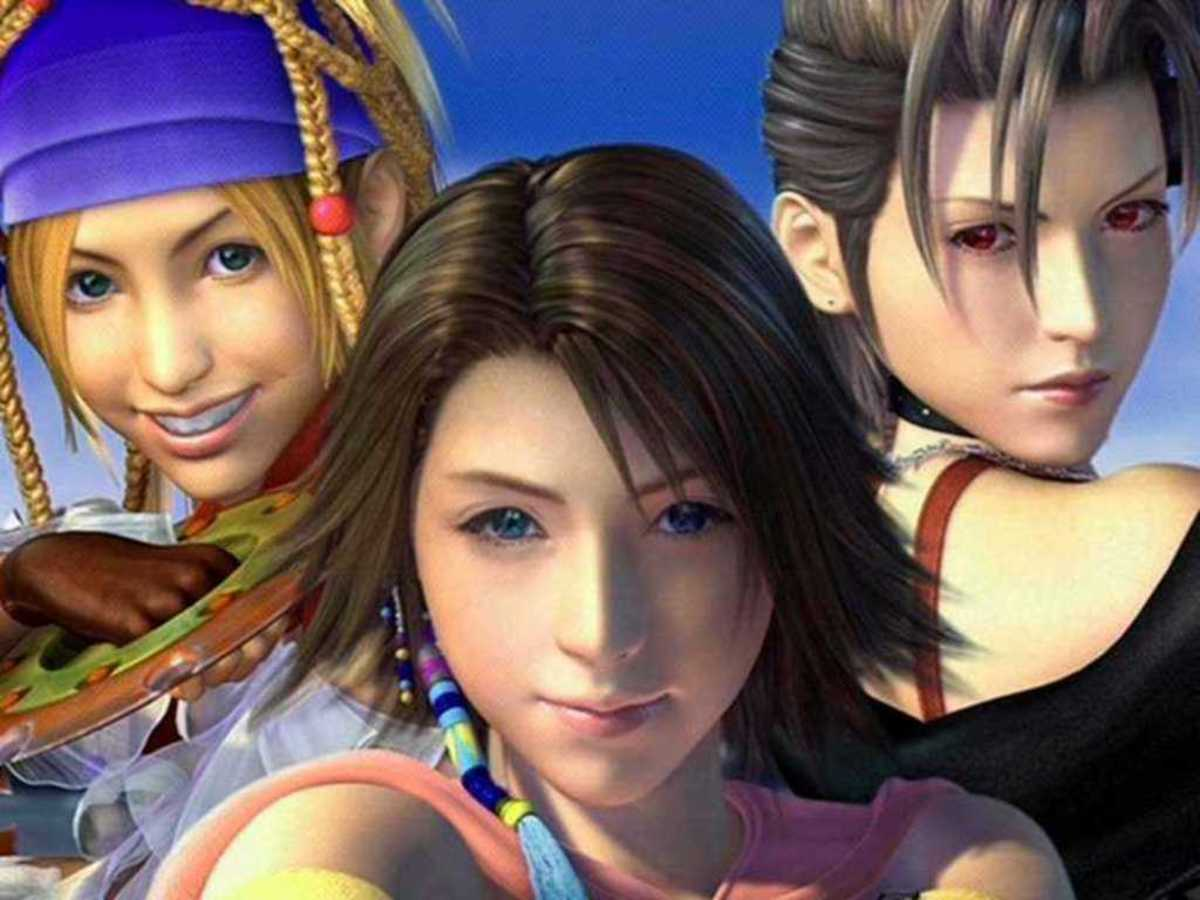 Final Fantasy X-2's playable characters (from left to right), Rikku, Yuna and Paine