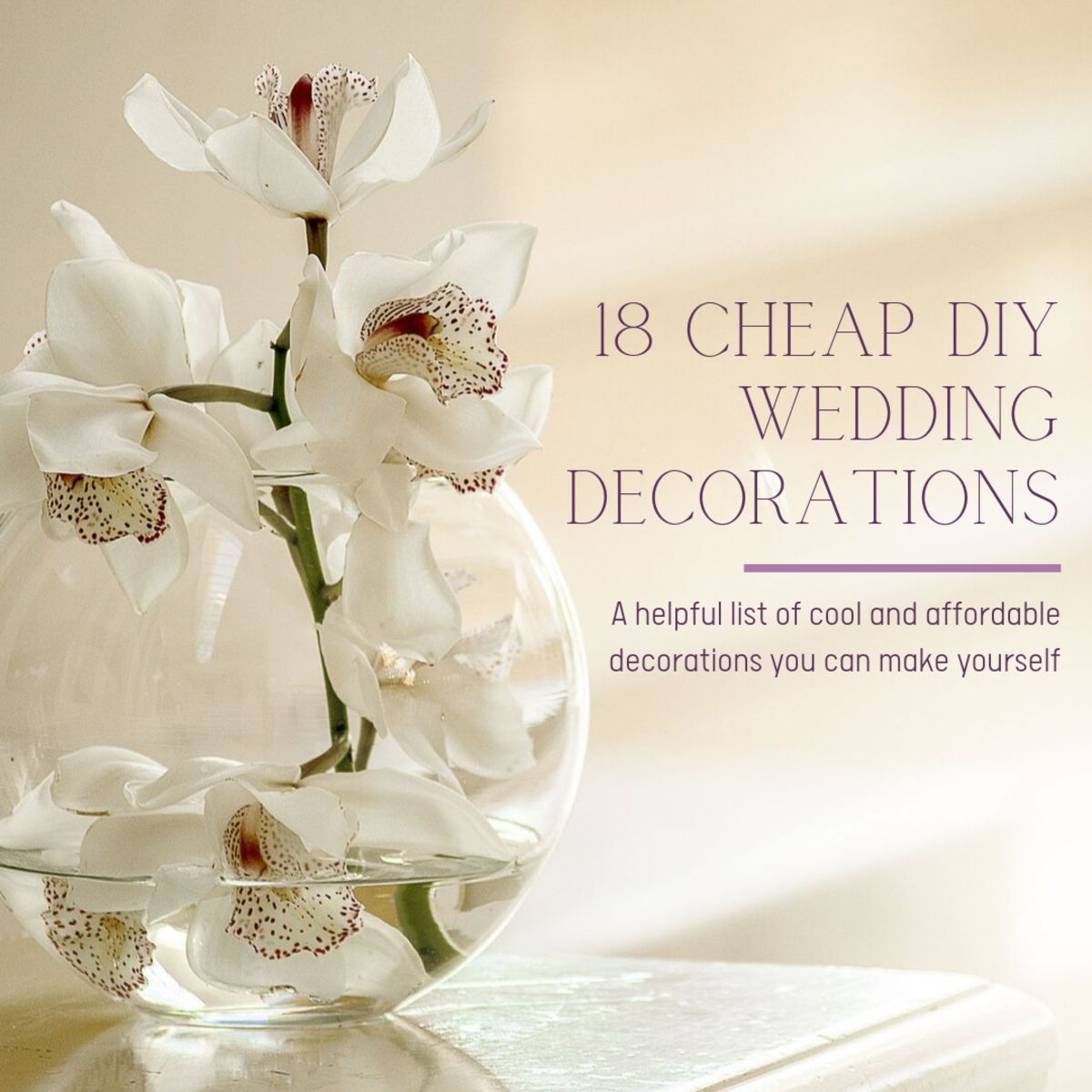 This article will breakdown a list of 18 inexpensive but still incredible ideas for beautiful wedding decorations.