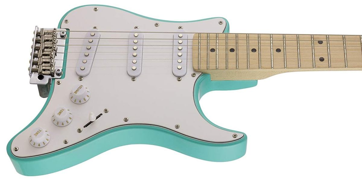 The Travelcaster Deluxe is one of the best electric guitars for traveling.