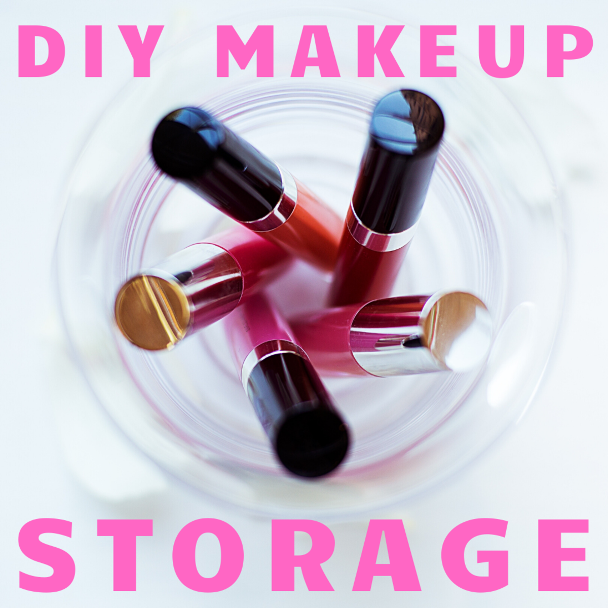 DIY makeup storage solution help you save money and stay organized.