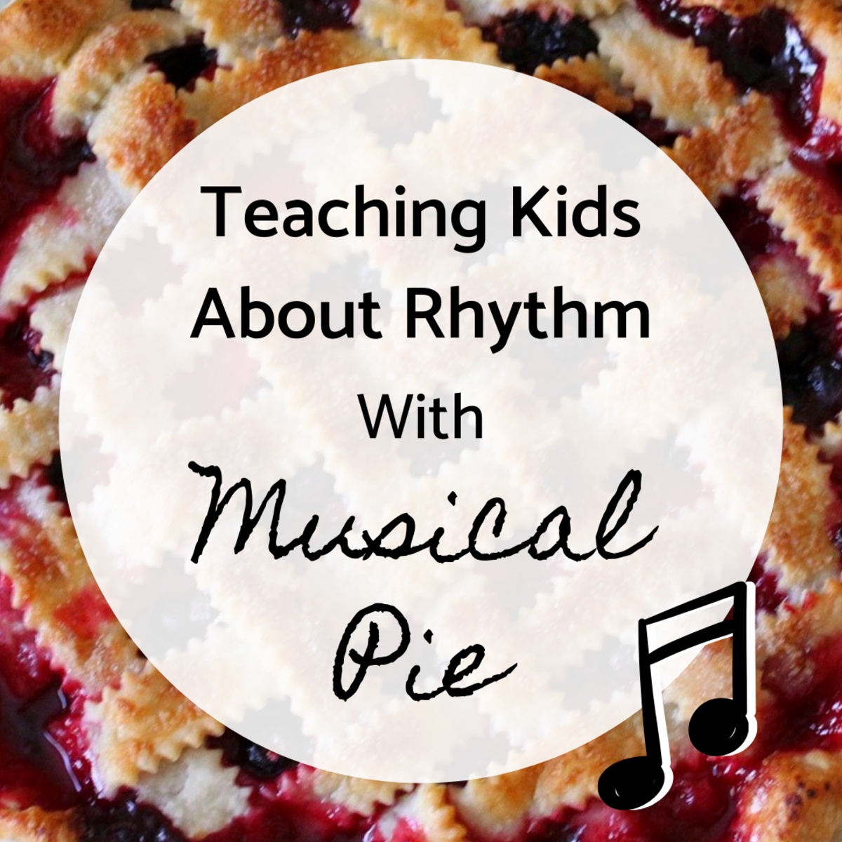 You can teach children about rhythm and note values by comparing them to words. For example, a quarter note can be compared to a one-syllable word. This lesson associates notes with the names of pies.