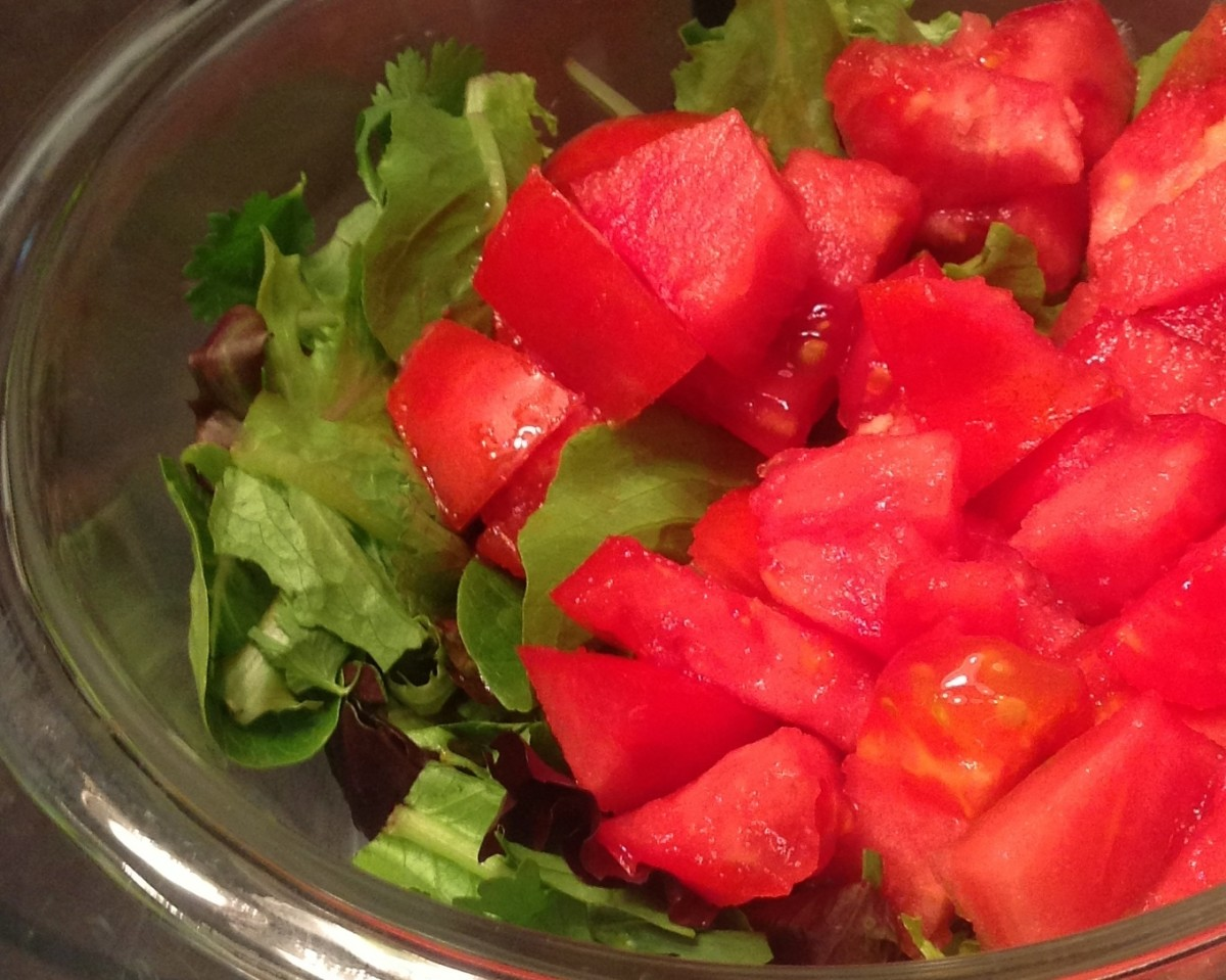 Enjoy your tomatoes fresh in a salad!