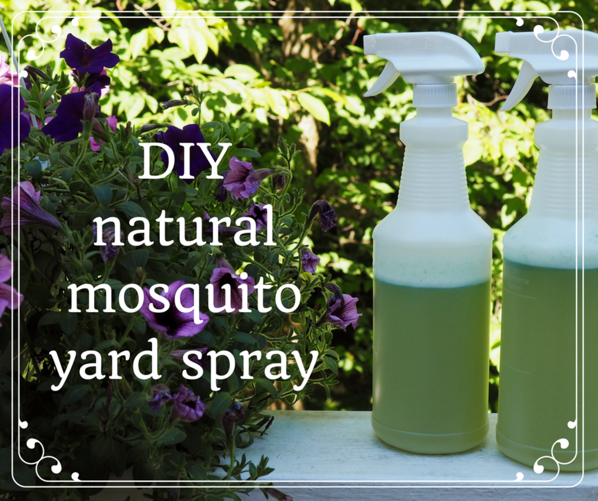 How to Make Homemade Organic Mosquito Yard Spray