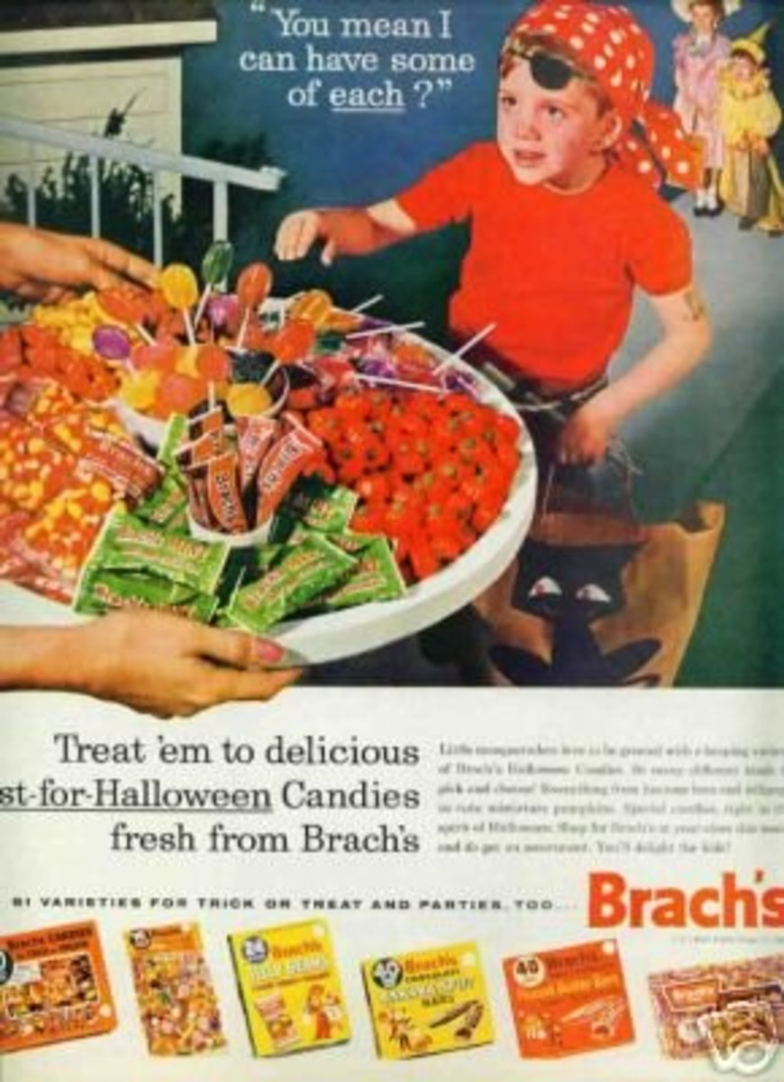 Brach's Candy ad from 1962.  You wouldn't see anyone offering unwrapped candy today.