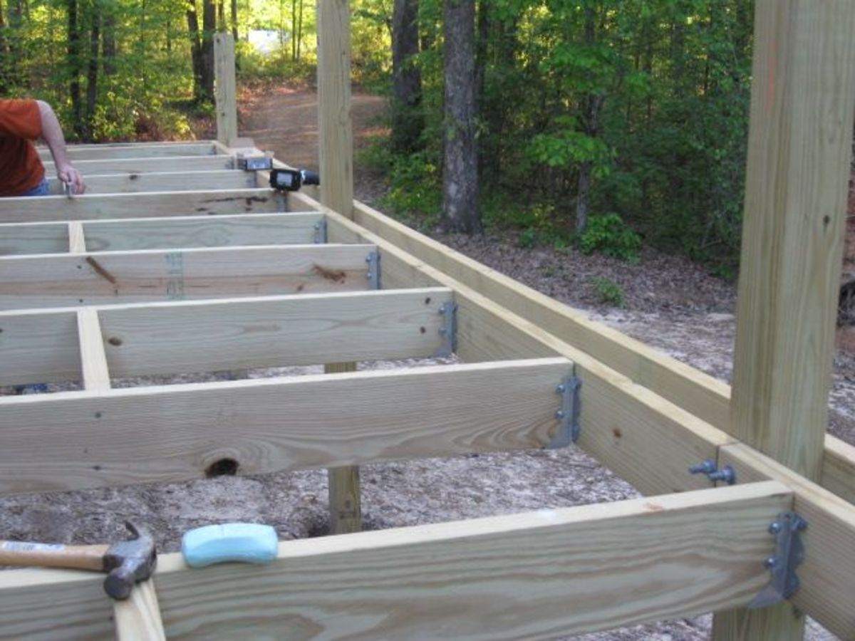 How To Build An Elevated Deck On Uneven Ground Dengarden