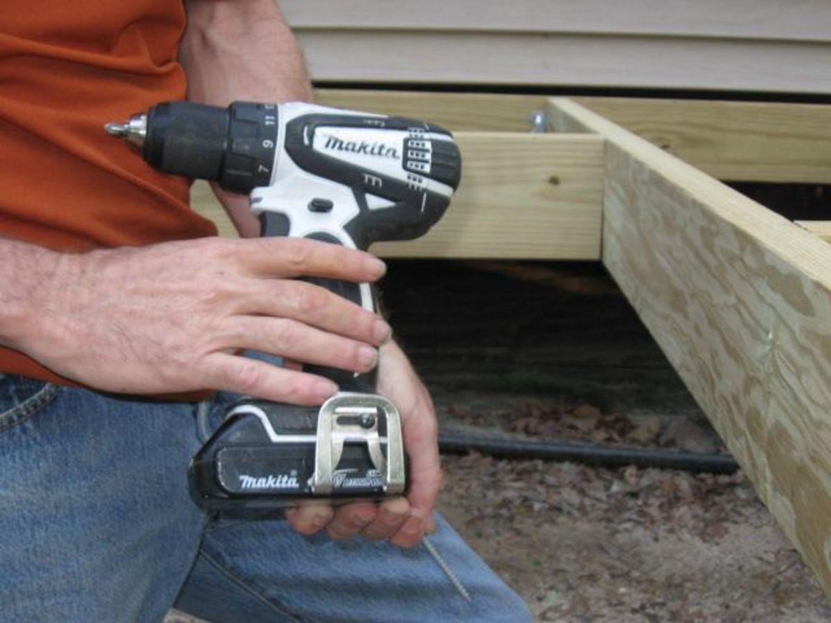 Mr. Lytle's favorite drill, the power tool that was the most used on this deck