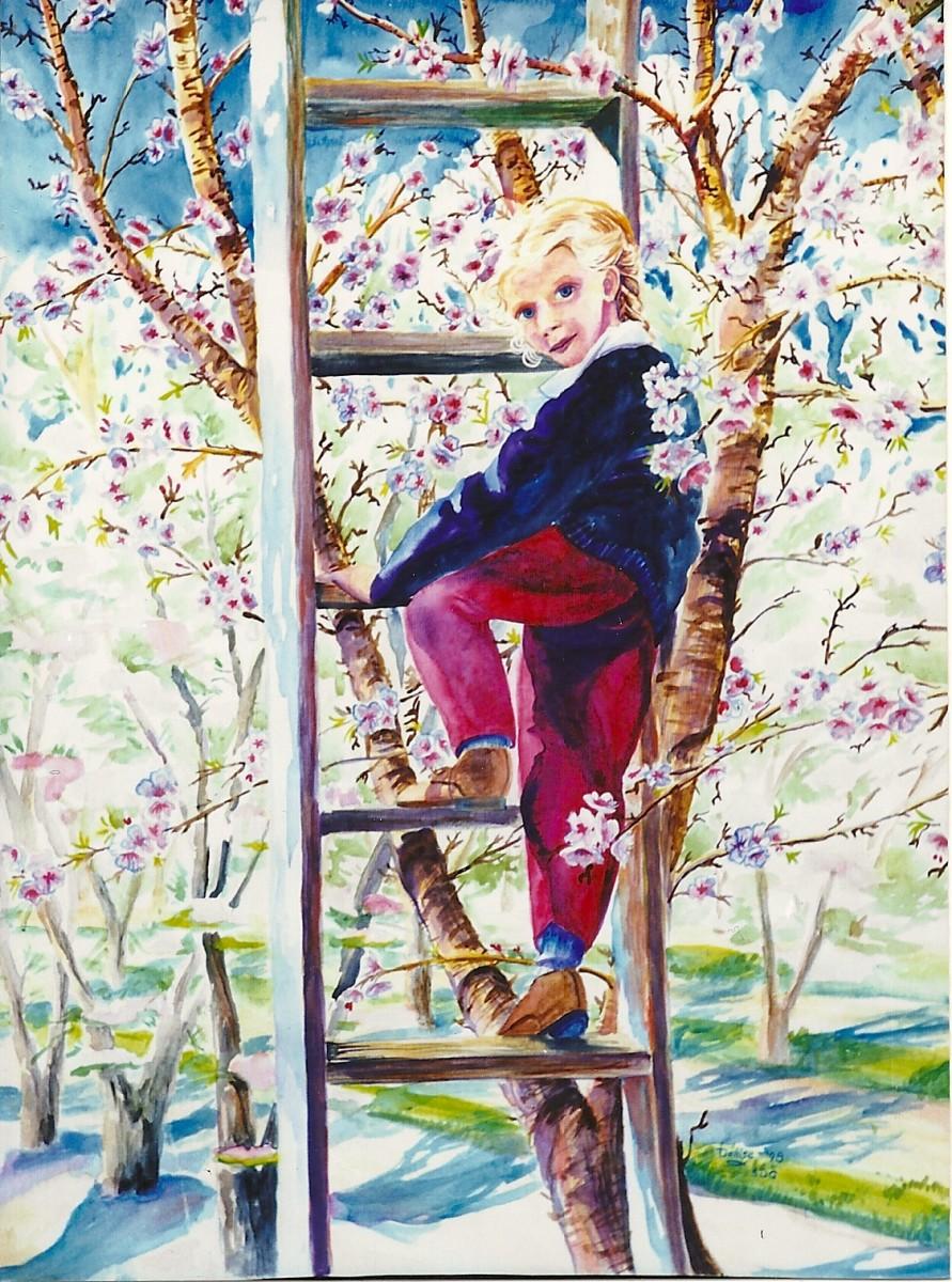 Girl Among the Blossoms