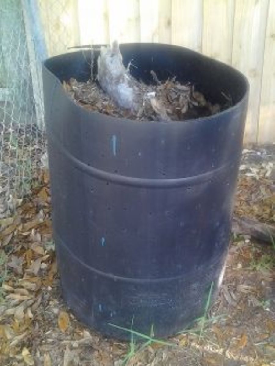 Here is a photo of one of my compost bins.
