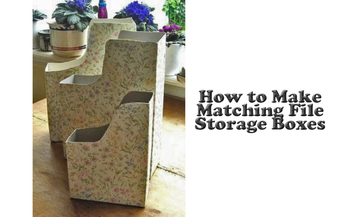 How to Make Matching File Storage Boxes