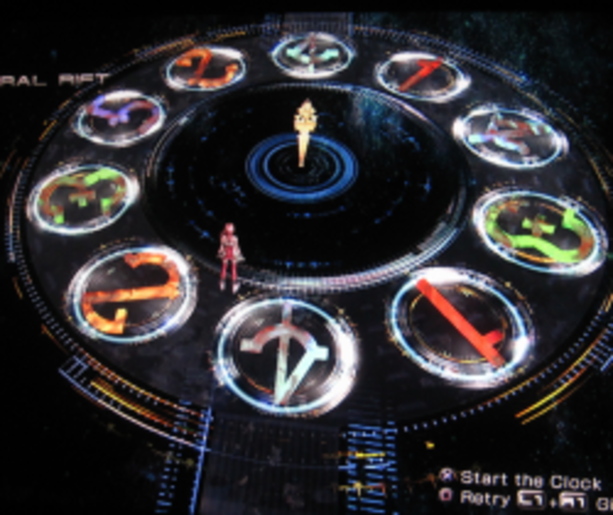 How to Solve Final Fantasy XIII-2's Temporal Rift Clock Puzzles