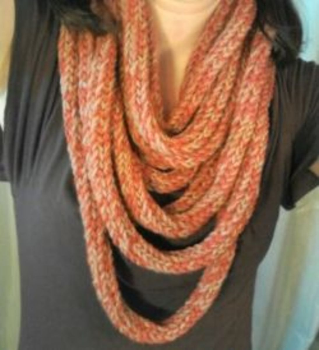 Tutorial: Spool Knitted Infinity Scarf