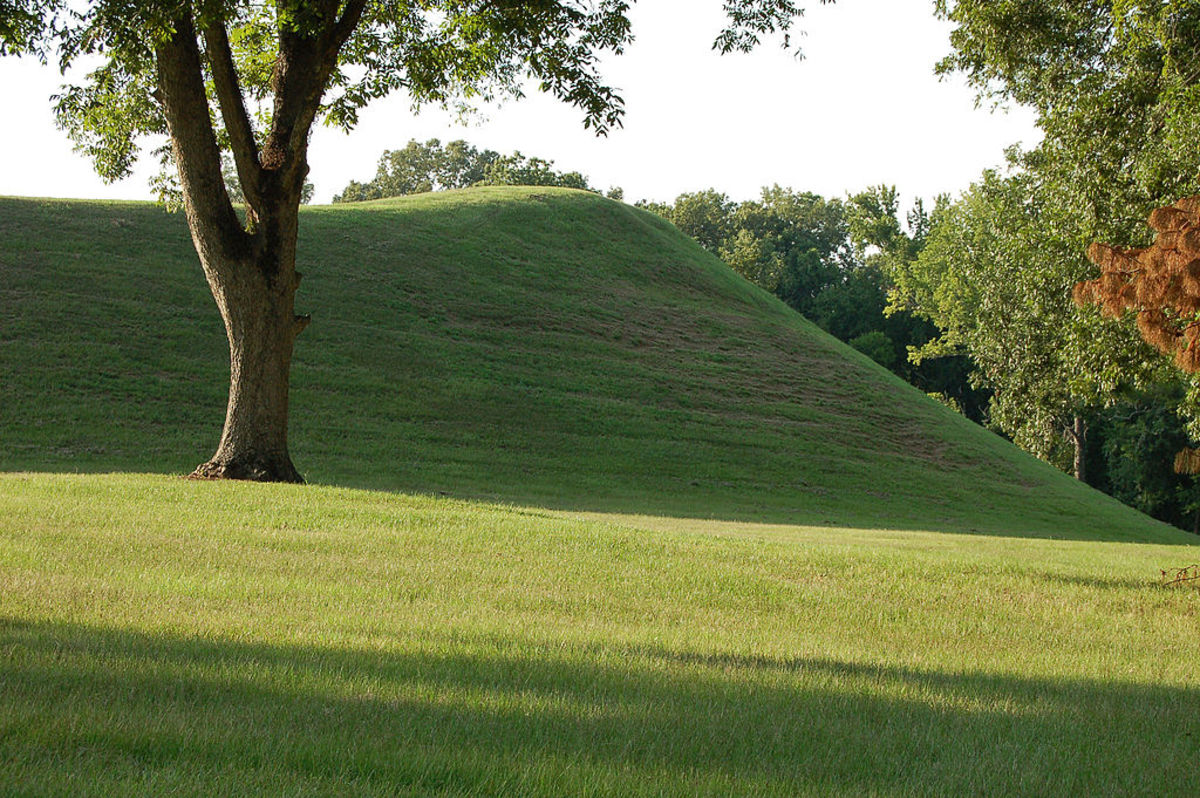 Emerald Mound—about 4,000 feet off the Trace near Stanton, MS.