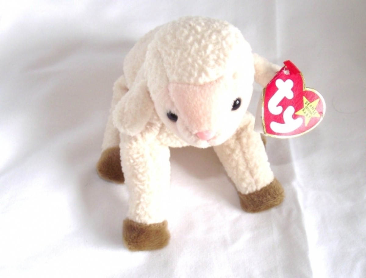 Ty Beanie Baby lamb all sparkling clean again.