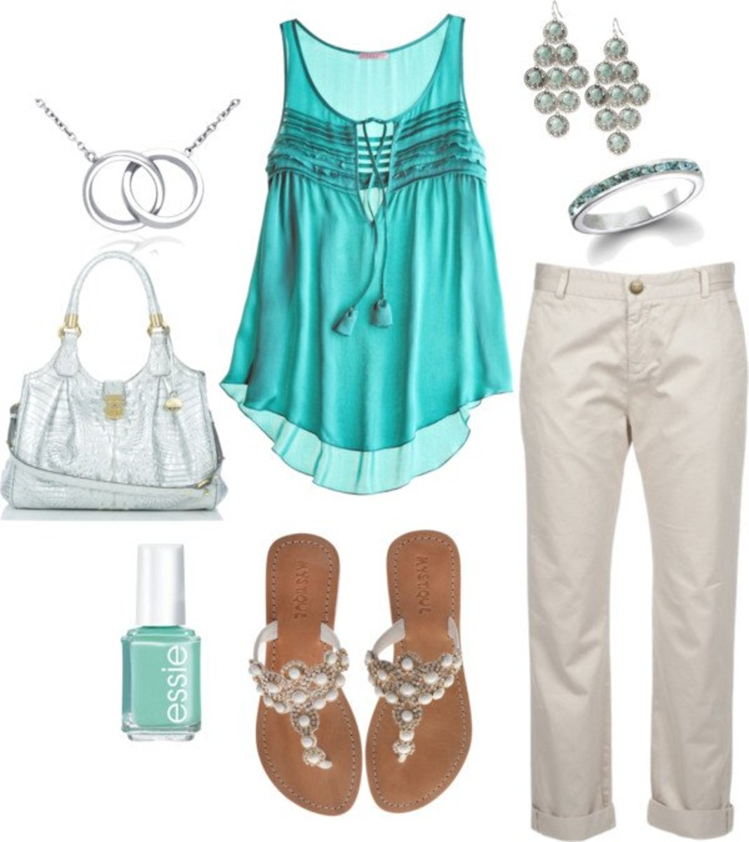 Fashionable summer look with capri pants