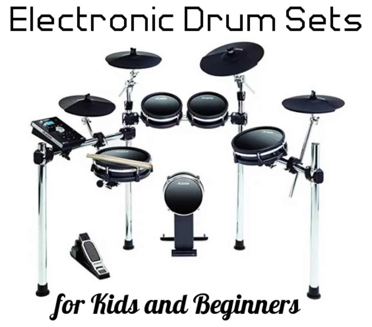 Alesis makes an affordable, pro-quality electronic drum set that I have used with my students