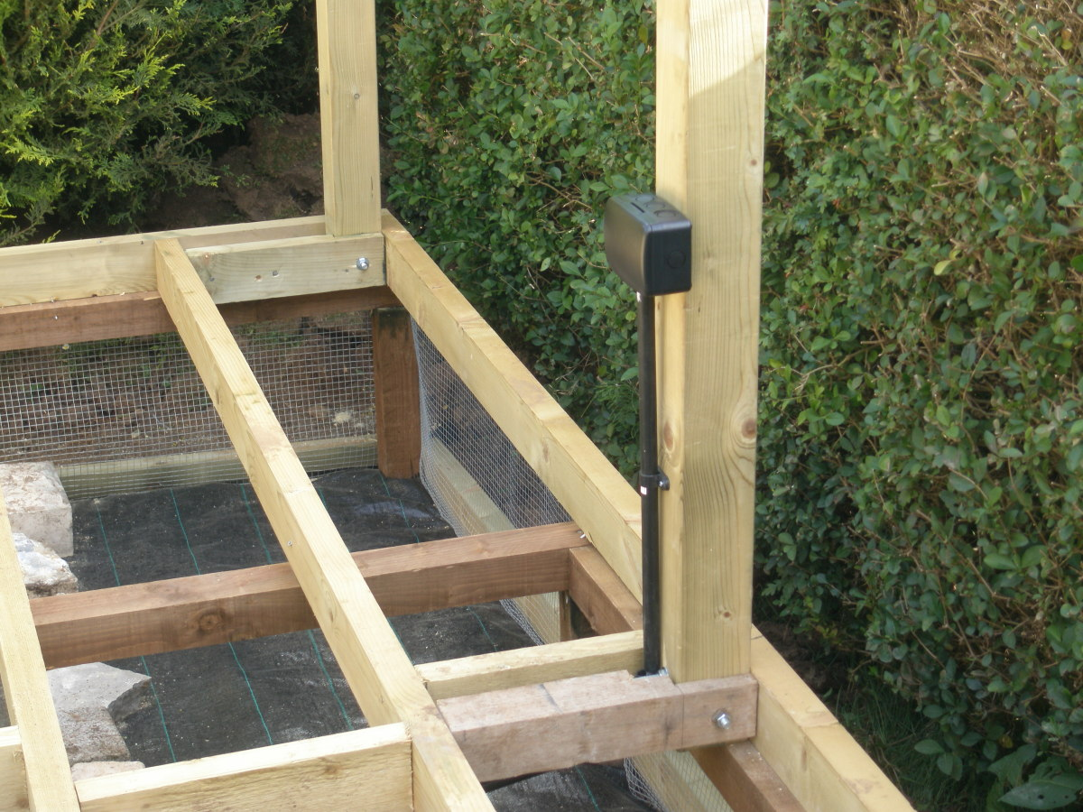 Wire mesh added to my decking to deter rats