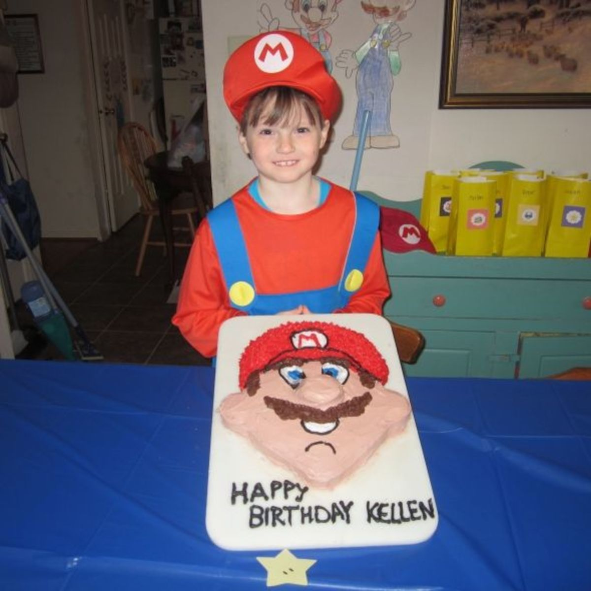 My son, Kellen, was thrilled with his Mario cake!