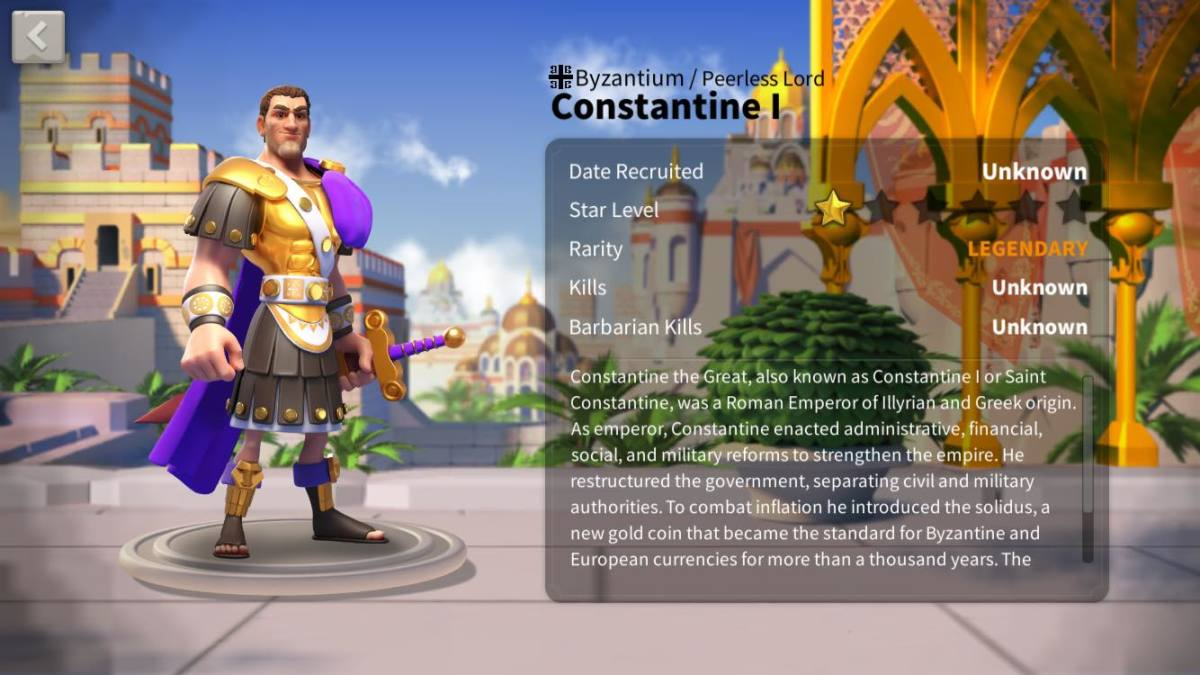 "Ultimate Constantine I Talent Tree Build Guide in ""Rise of Kingdoms"""