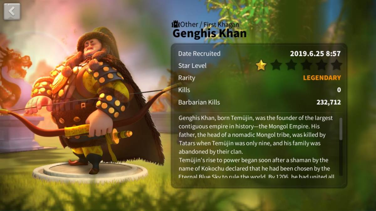 Genghis Khan's Profile Page