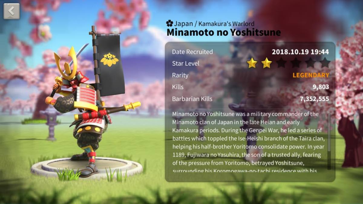 Minamoto no Yoshitsune Profile Page