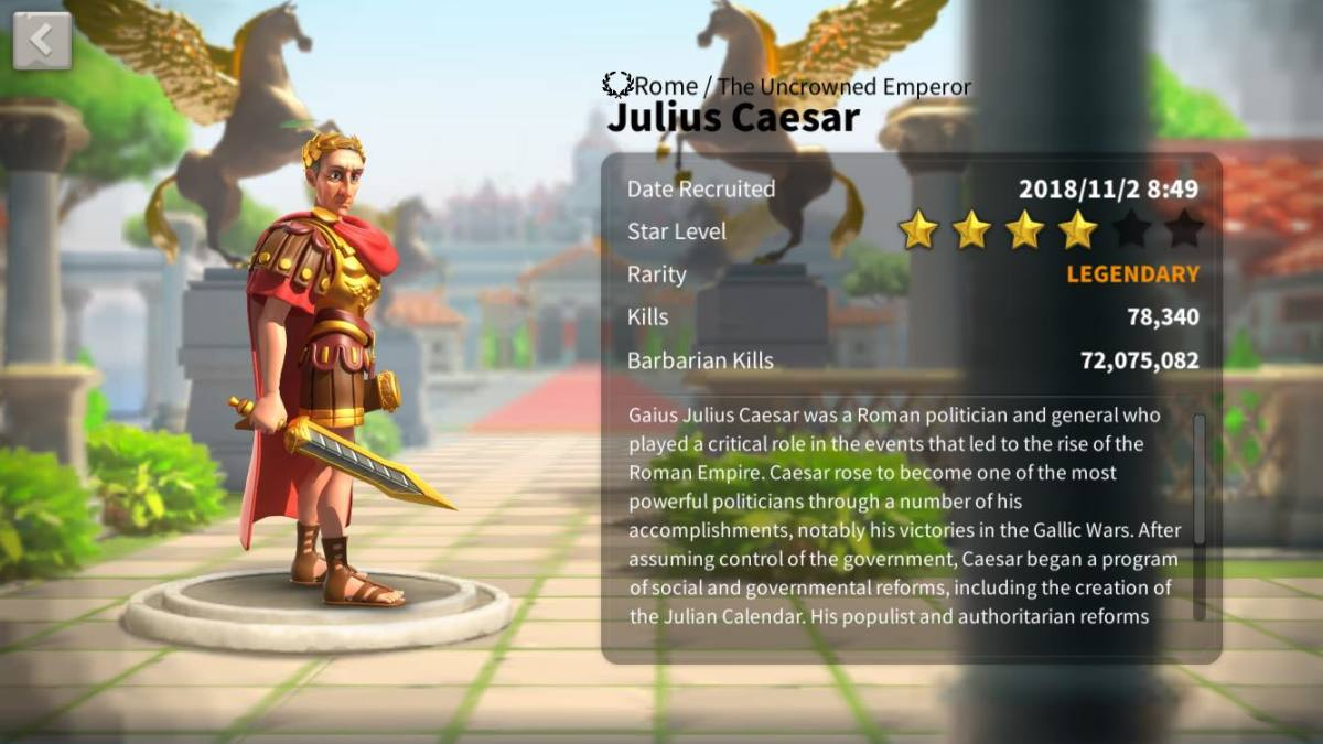 """Rise of Kingdoms"": Ultimate Julius Caesar Talent Tree Build Guide"