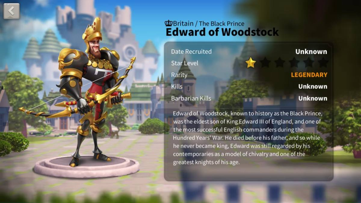 "Ultimate Edward of Woodstock Talent Tree Build Guide in ""Rise of Kingdoms"""