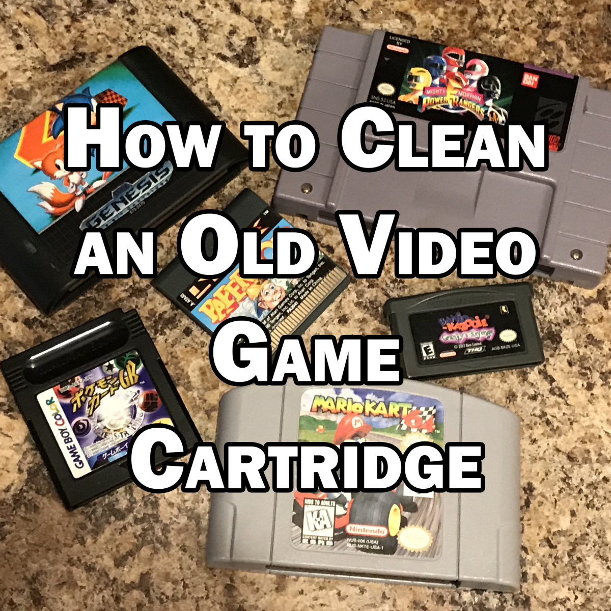 How to Clean an Old Video Game Cart.