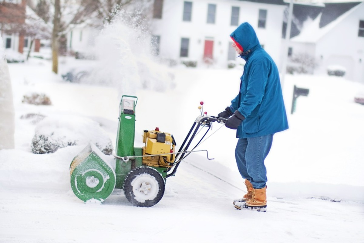 Snow blowers use 4 stroke engines just like lawn mowers