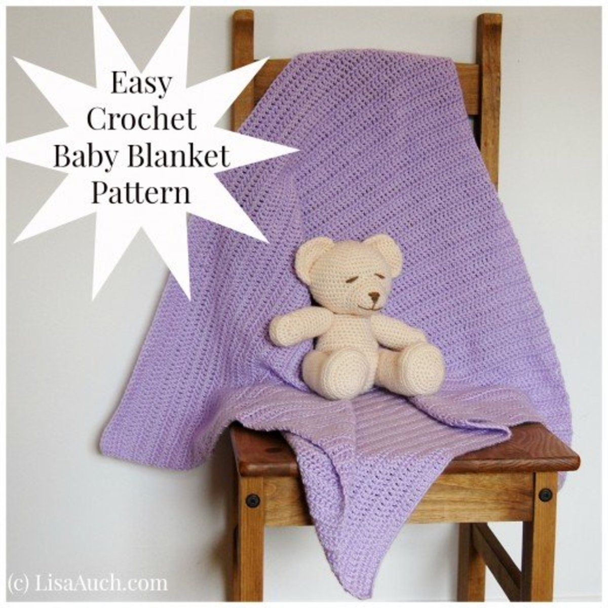 How to crochet a baby blanket.