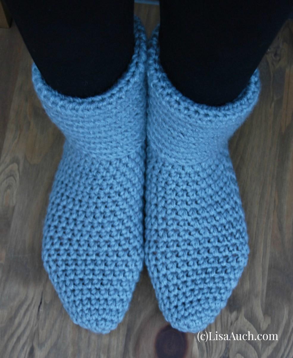 crochet slippers for beginners - photo #5