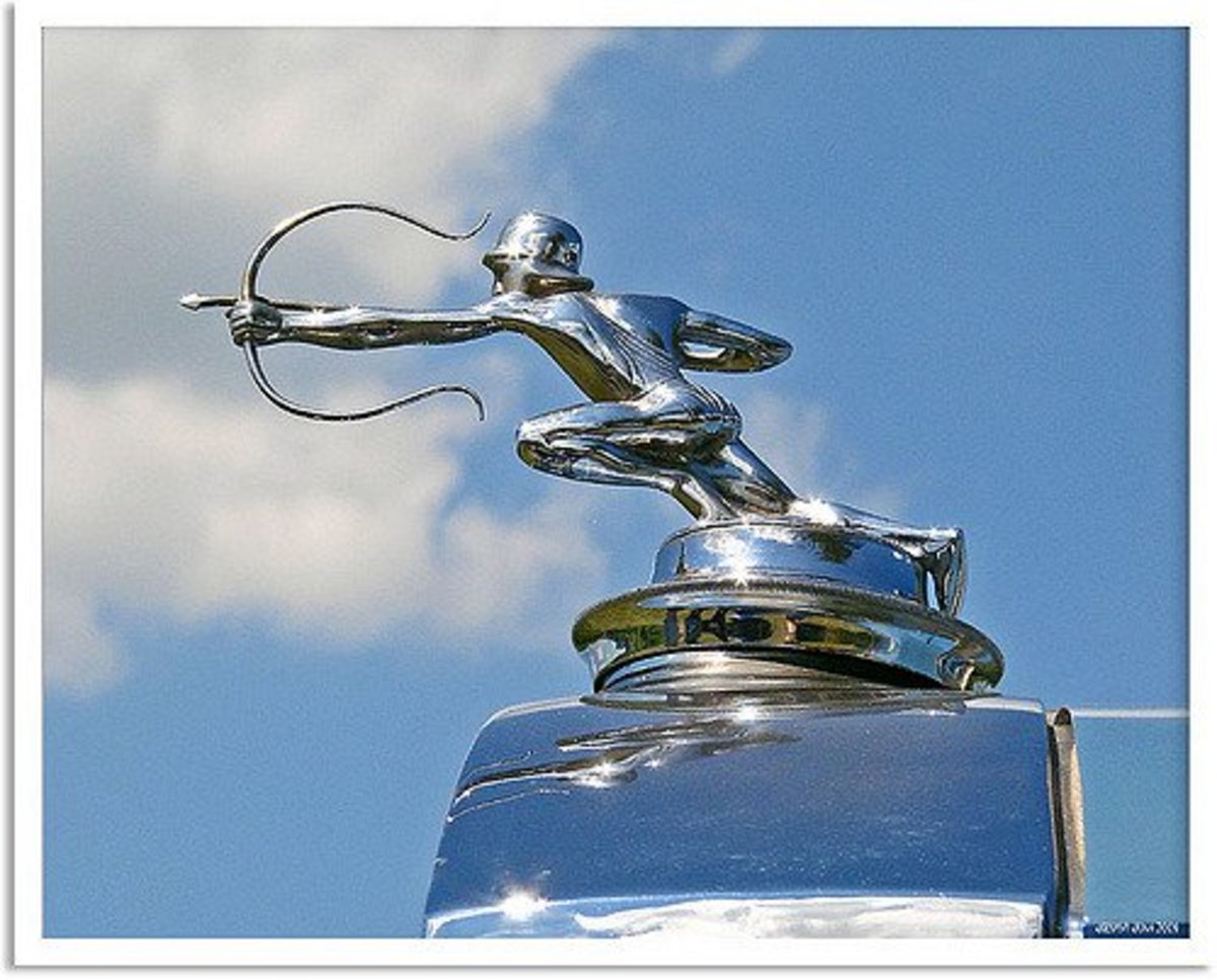 Hood Ornament Pierce Arrow C 1930