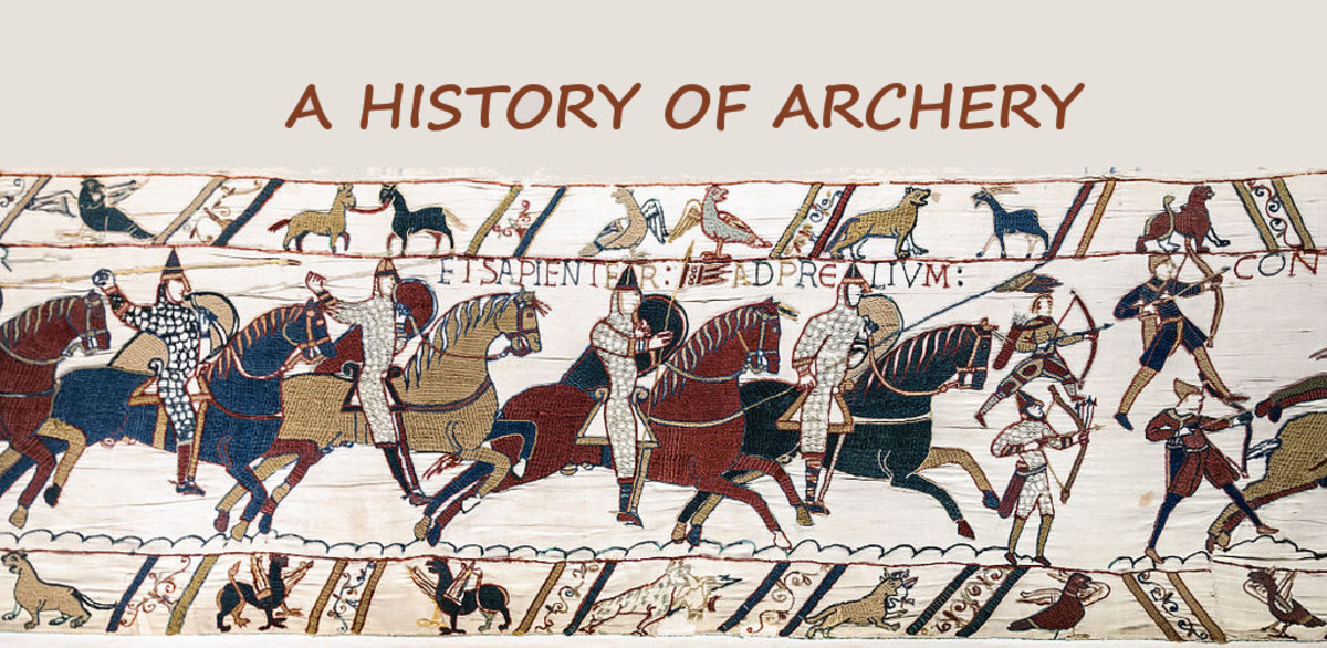 Archers at the Battle of Hastings as shown on the Bayeux Tapestry.