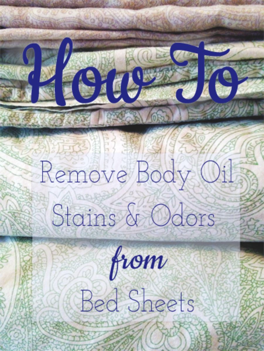 How to remove body oil stains and odors from bed sheets.