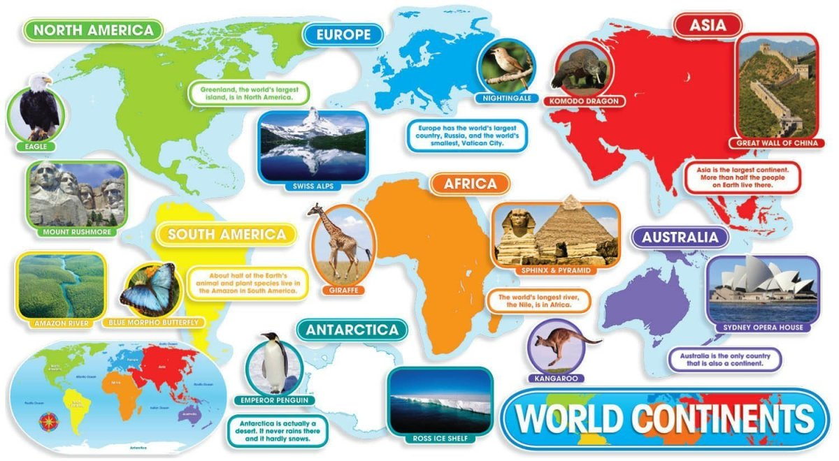 Creative Ways To Teach The Continents WeHaveKids - List of 7 continents of the world